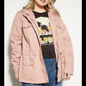 Rue 21 Plus pink anorak jacket